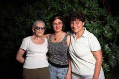 Drie generaties Stock Fotografie