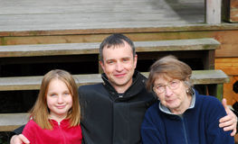 Drie generaties Stock Foto
