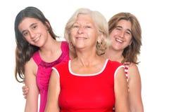 Drie generaties van het Spaanse vrouwen glimlachen Royalty-vrije Stock Fotografie