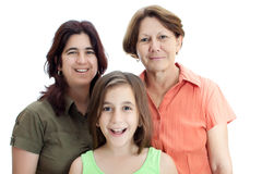 Drie generaties van Latijnse vrouwen Stock Fotografie