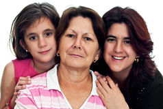 Drie generaties van Latijnse vrouwen Stock Foto's