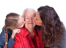 Drie generaties van vrouwen Royalty-vrije Stock Foto's