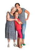 Drie generaties van vrouwen Royalty-vrije Stock Afbeelding