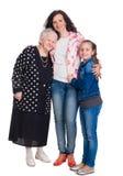 Drie generaties van vrouwen Stock Fotografie
