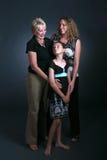 Drie generaties van vrouwen Royalty-vrije Stock Foto