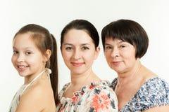 Drie generaties van vrouwen Royalty-vrije Stock Afbeeldingen