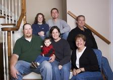 Drie generatiesfamilie royalty-vrije stock foto's