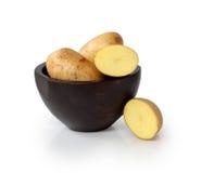 Drie gesneden Aardappels Royalty-vrije Stock Foto