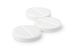 Drie geïsoleerde tabletten Royalty-vrije Stock Foto