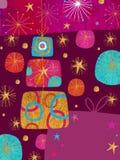 Drie Giften - het Ontwerp van de Kaart van Kerstmis vector illustratie