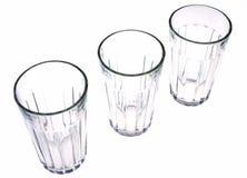 Drie glazen Royalty-vrije Stock Foto's