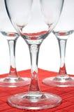 Drie glazen Royalty-vrije Stock Fotografie