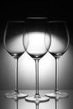 Drie glazen Royalty-vrije Stock Afbeeldingen