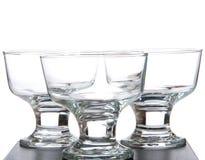Drie glazen Royalty-vrije Stock Foto