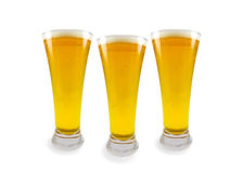 Drie glazen bier Royalty-vrije Stock Fotografie