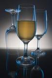 Drie glazen op lijst Royalty-vrije Stock Fotografie