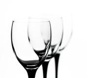 Drie glazen op uitgaande termijn Royalty-vrije Stock Foto