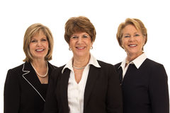 Drie glimlachende Bedrijfsvrouwen Stock Afbeeldingen