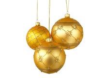 Drie gouden ballen Royalty-vrije Stock Afbeelding