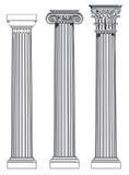 Drie Griekse kolommen Royalty-vrije Stock Afbeelding