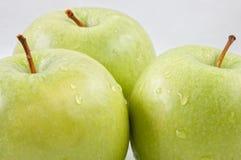 Drie groene appelen Royalty-vrije Stock Foto
