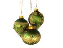 Drie groene ballen Stock Afbeeldingen