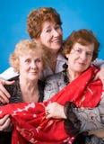 Drie grootmoeders. royalty-vrije stock afbeeldingen