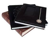 Drie Grote boeken met het knippen van het album van de wegfoto Royalty-vrije Stock Afbeelding