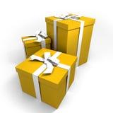 Drie grote geel stelt voor Royalty-vrije Stock Afbeeldingen