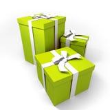 Drie grote groen stelt voor Royalty-vrije Stock Afbeeldingen
