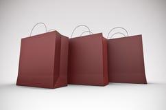 Drie grote het winkelen zakken vector illustratie
