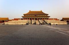 Drie Grote Zalen. Verboden Stad. Peking, China. Royalty-vrije Stock Foto
