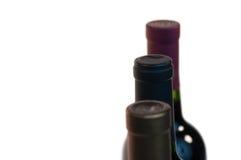 Drie Halzen van de Fles van de Wijn Stock Foto's