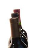 Drie Halzen van de Fles van de Wijn Stock Fotografie