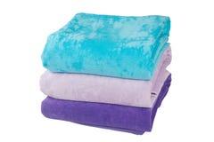 Drie handdoeken Stock Afbeeldingen