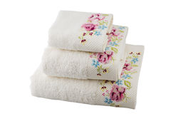 Drie handdoeken Stock Foto's