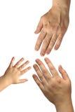 Drie handen Royalty-vrije Stock Foto's