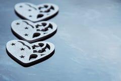 Drie harten Stock Afbeelding