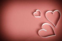 Drie harten van Witboek Stock Foto