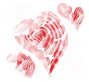 Drie harten Vector illustratie Royalty-vrije Stock Foto