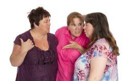 Drie Hatelijke Vrouwen Royalty-vrije Stock Afbeelding