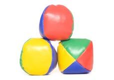 Drie het jongleren met ballen Royalty-vrije Stock Foto's