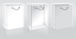 Drie het winkelen pakketten vector illustratie
