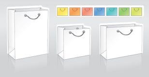 Drie het winkelen pakketten royalty-vrije illustratie