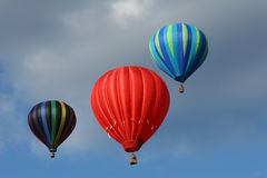 Drie hete luchtballons Royalty-vrije Stock Foto