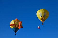 Drie hete luchtballons Stock Foto's