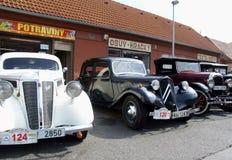 Drie historische auto's Royalty-vrije Stock Afbeelding