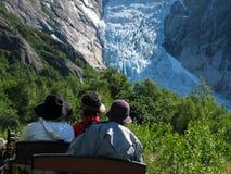 Drie hoeden en gletsjer Royalty-vrije Stock Foto's