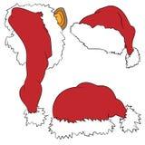 Drie hoeden van Kerstman vector illustratie
