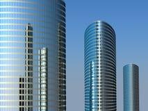 Drie hoge gebouwen Royalty-vrije Stock Foto's